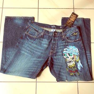 ED HARDY by Christian Audigier Men  Denim Jeans 36